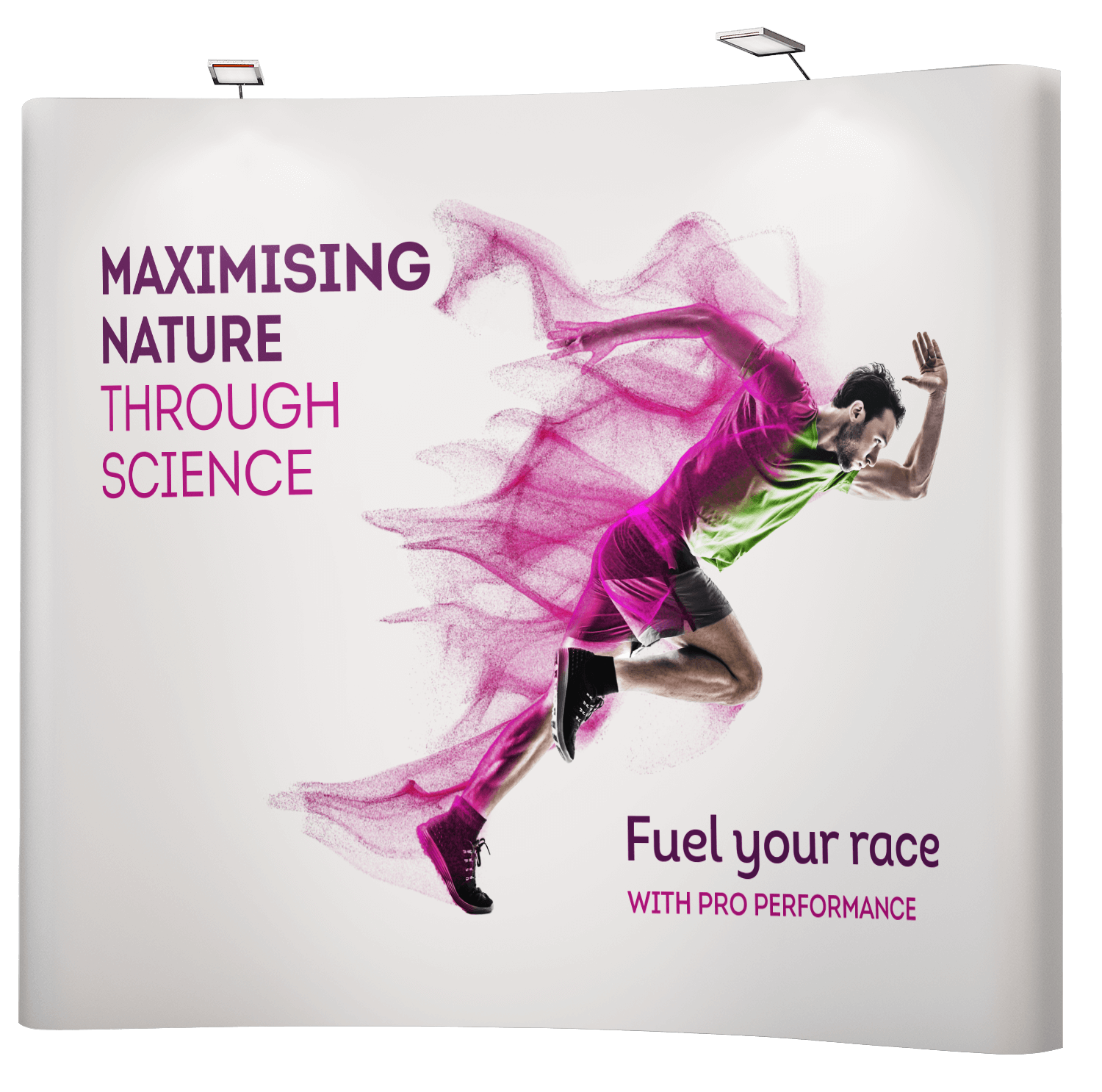Large format and exhibition graphics design for sports supplement manufacturer